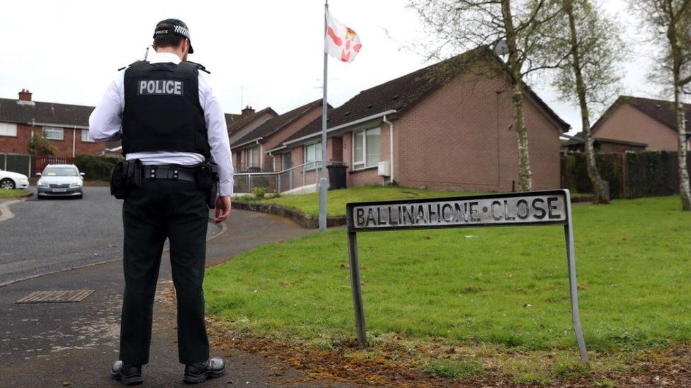 Police officer at scene of sudden death in Armagh