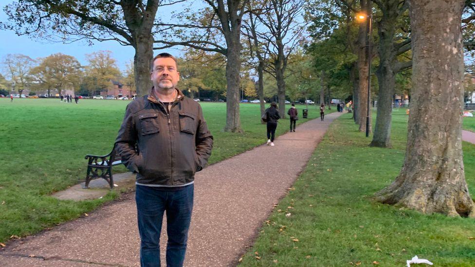Mr Brown in park