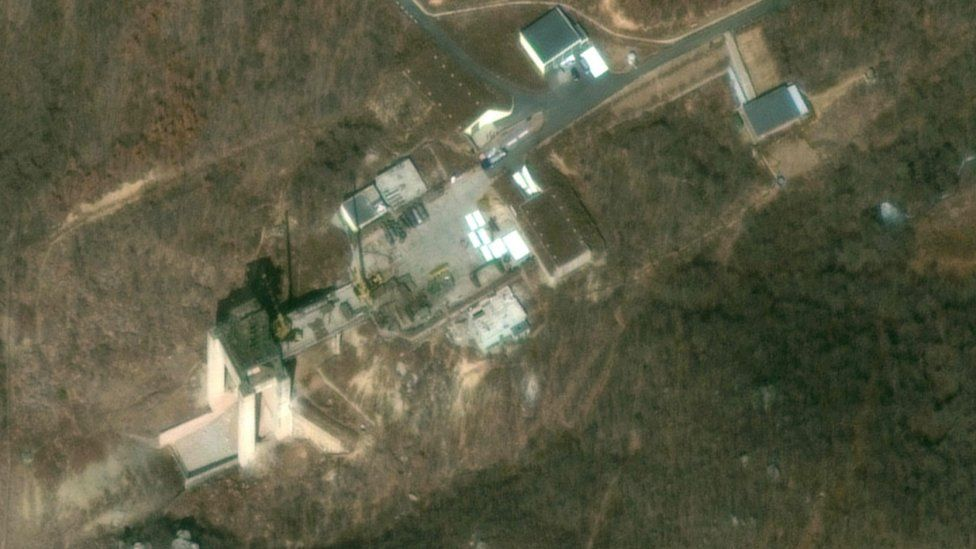 Satellite image of the Sohae missile facility taken by Digital Globe in March 2019