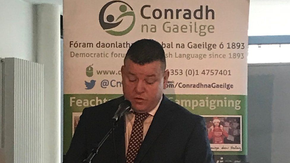 Solicitor Niall Murphy was one of the key speakers at the west Belfast meeting