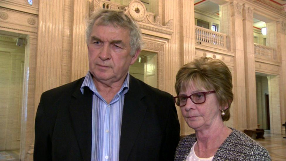Tommy Doherty and Margaret Love attended Monday's meeting at Stormont
