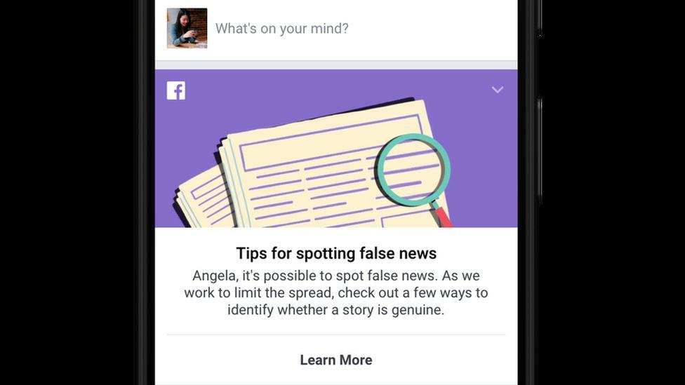 The Facebook app, as seen on an iPhone