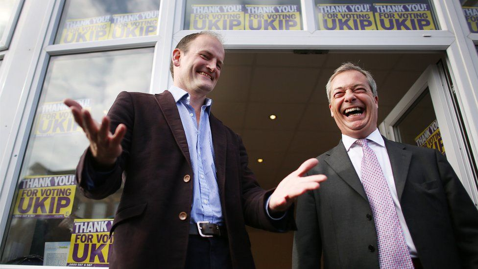 Douglas Carswell and Nigel Farage campaigning in 2014