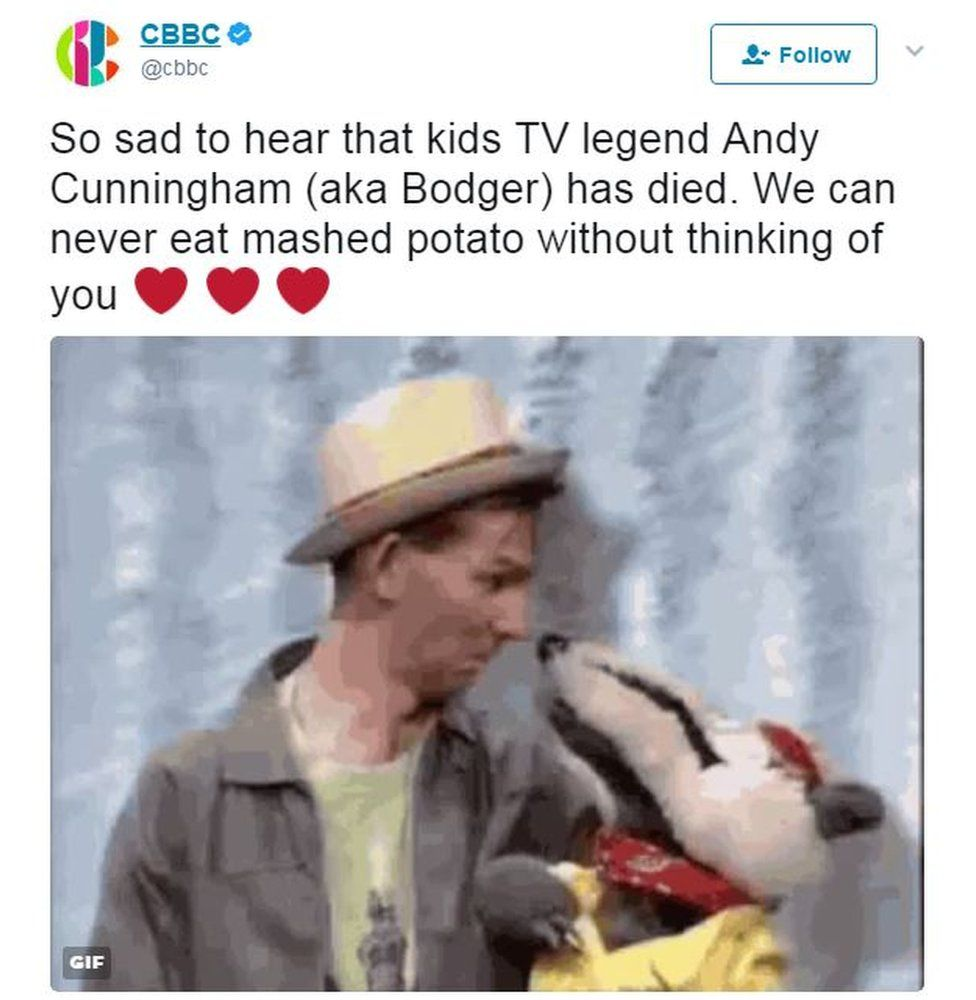 CBBC tribute to Andy Cunningham