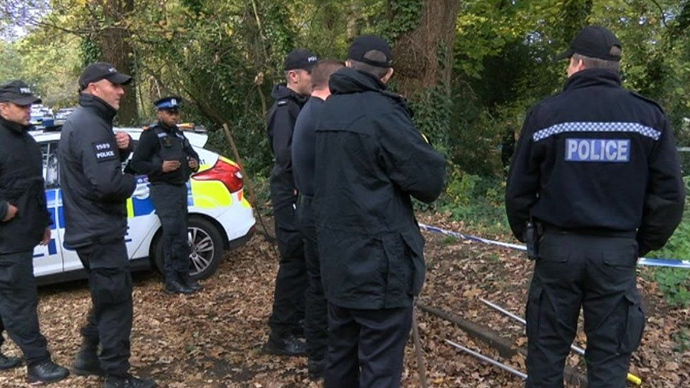 Police search near Cemetery Road