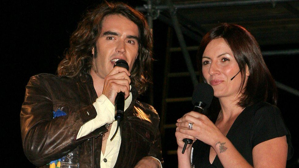 Russell Brand - presenter of Big Brothers Big Mouth and Davina McCall