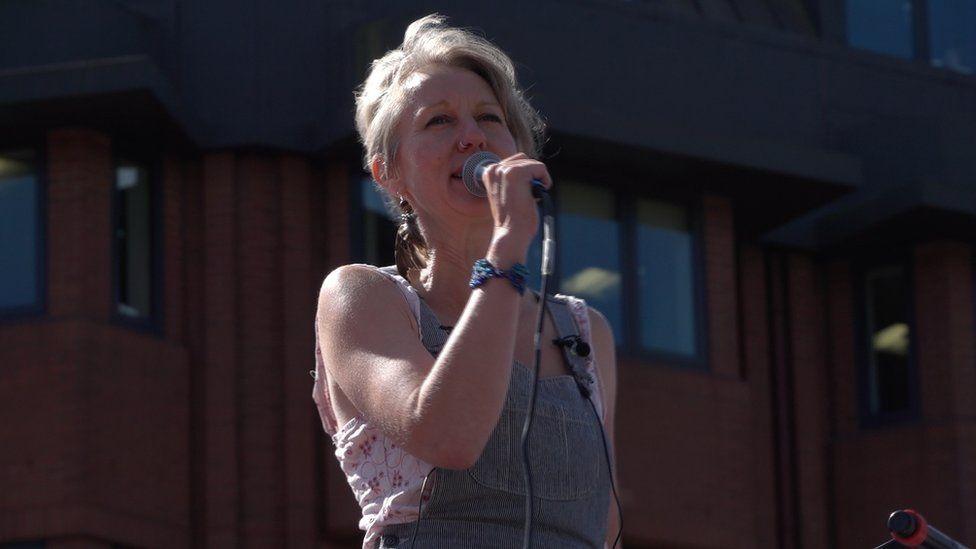 Gail Bradbrook of Extinction Rebellion