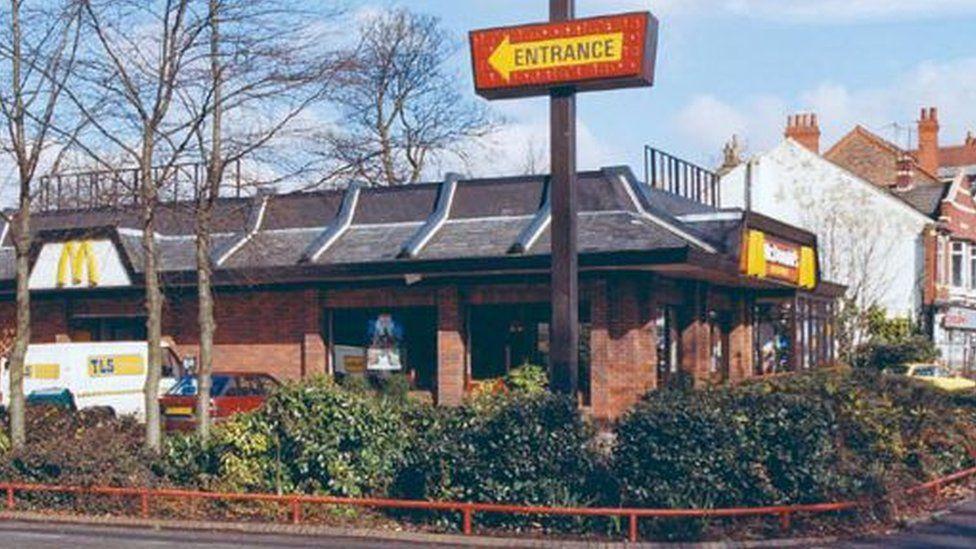 A 1980s McDonald's restaurant
