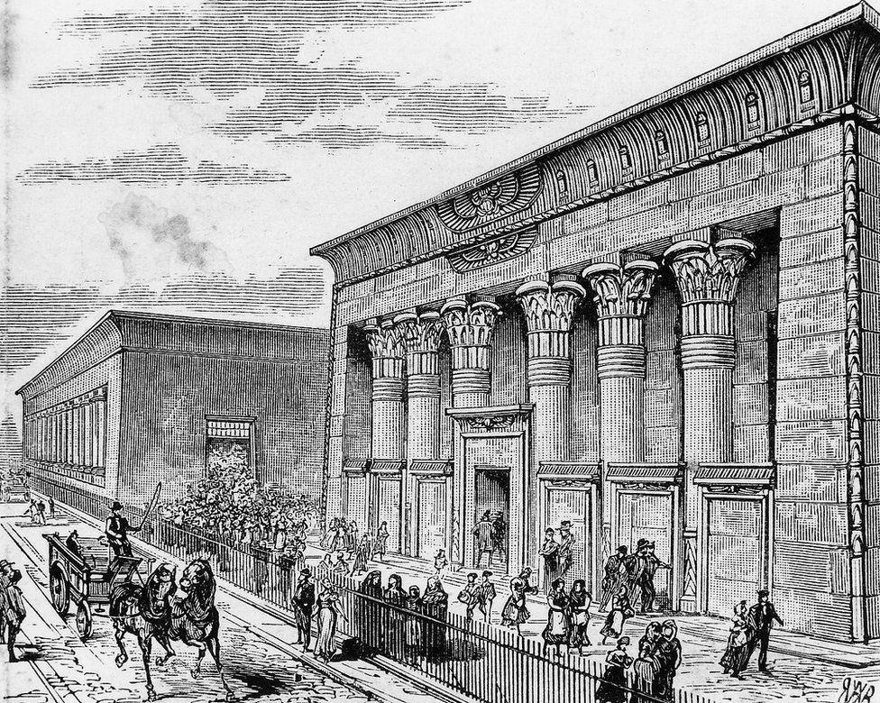 Engraving of Temple Works, Leeds