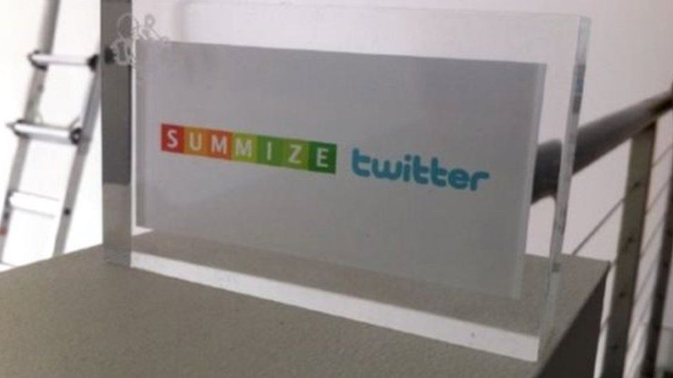 Twitter and Summize logos