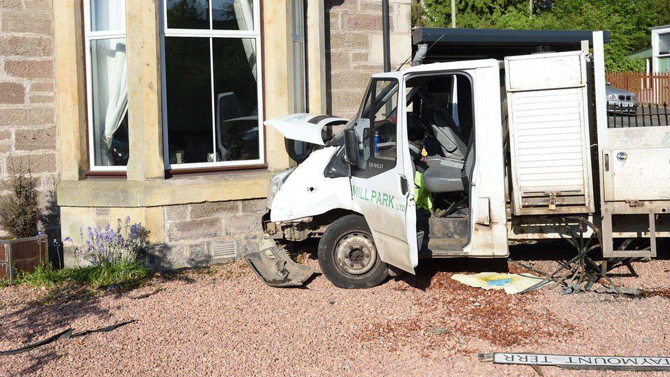 Van collision