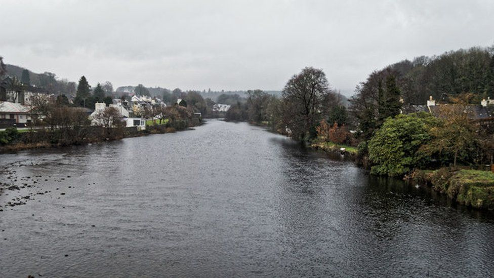The River Cree at Newton Stewart in Dumfries and Galloway