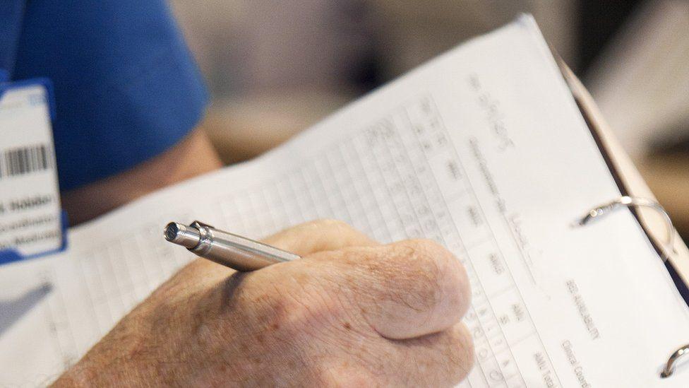 file picture - patient notes