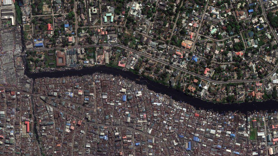 Aerial photo of Lagos