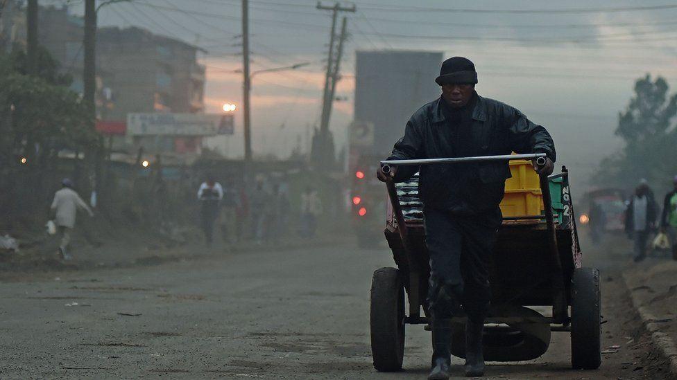 Early morning smog in Nairobi