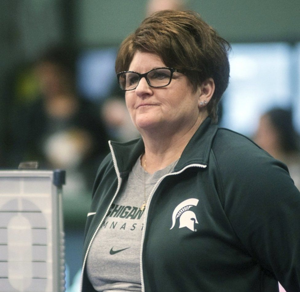 MSU coach Kathie Klages, who quit abruptly earlier this week after being named in several lawsuits