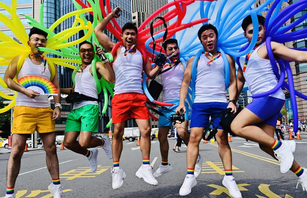 In pictures: Thousands join Pride parade in Taiwan