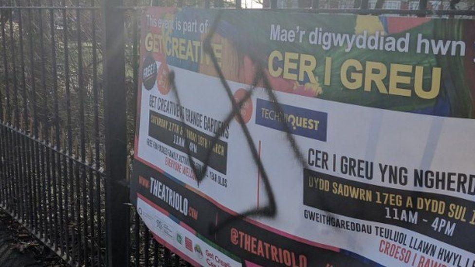 Racist graffiti in Grangetown