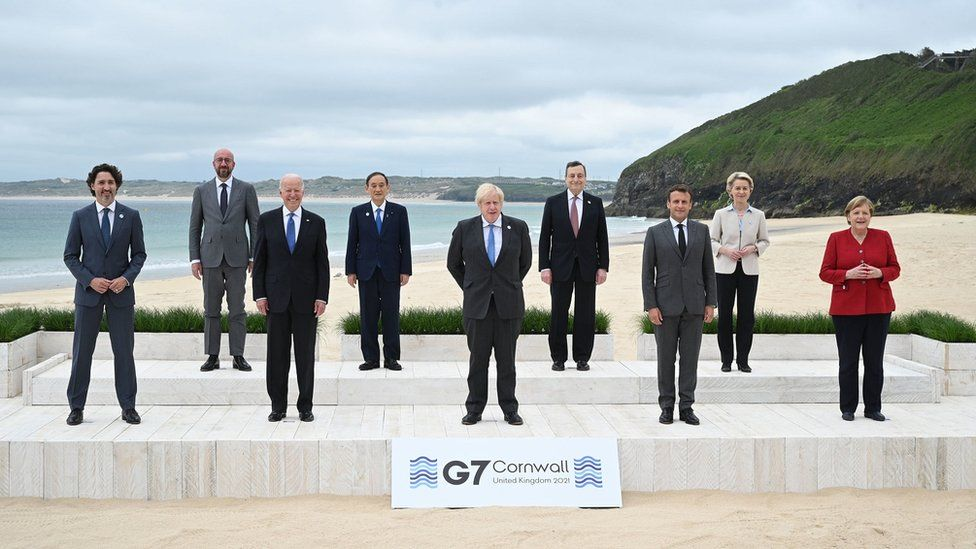 G7 summit: Spending plan to rival China adopted - BBC News