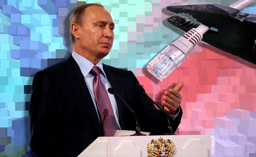 Putin and cut cable