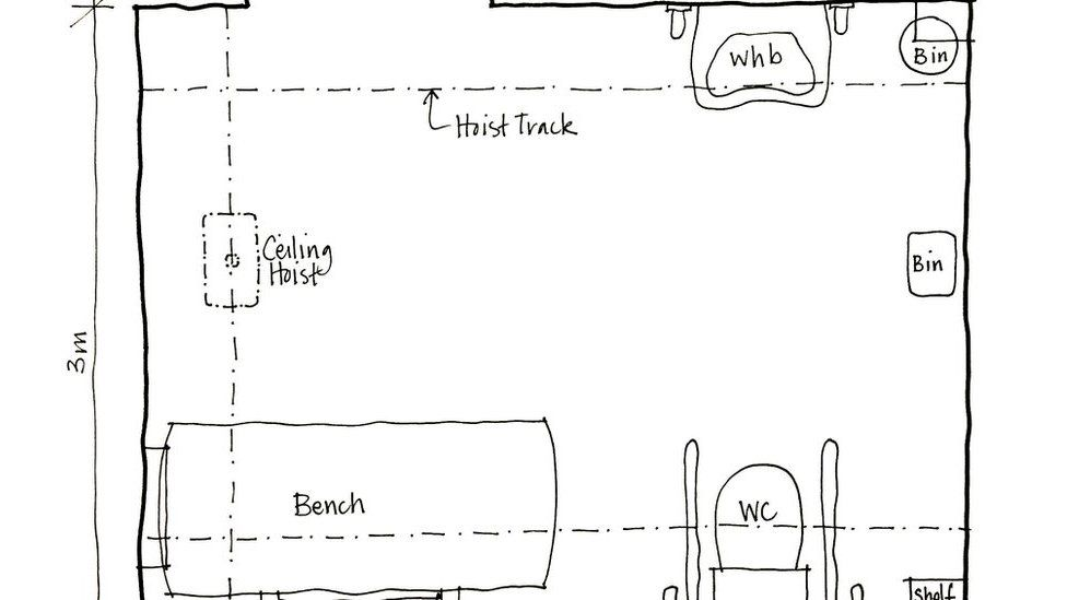 Diagram of changing places toilet