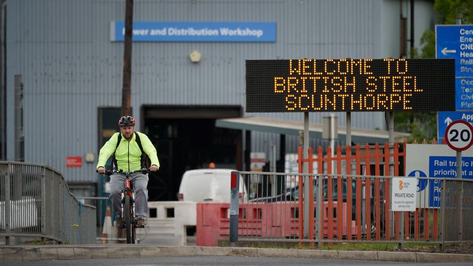 Steelworker at British Steel plant in Scunthorpe