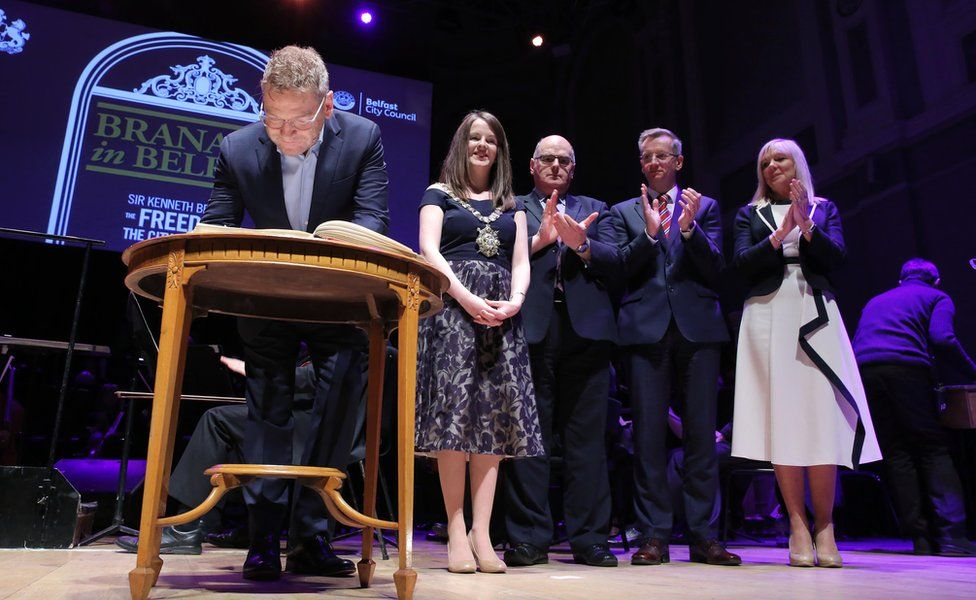 The star was honoured by Belfast City Council at the Ulster Hall