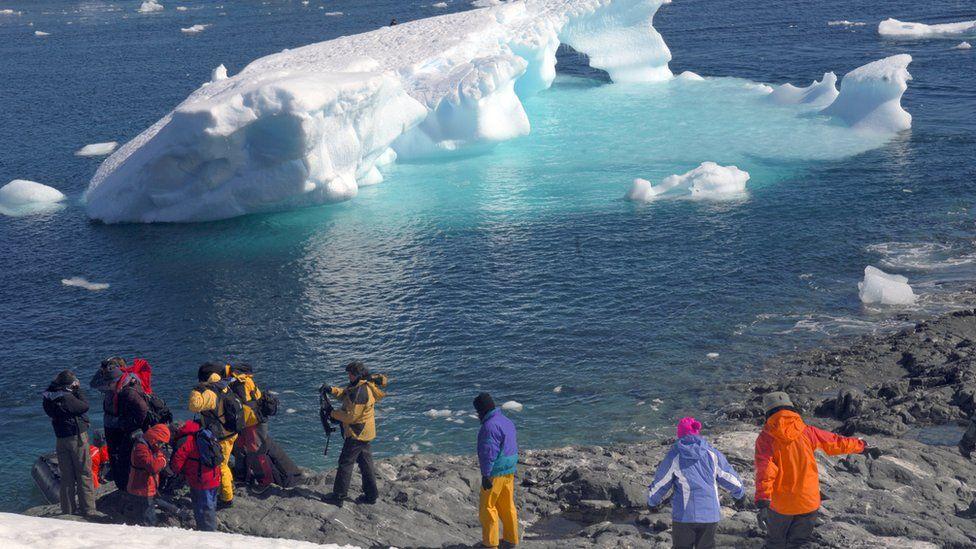 Tourists in Antarctica