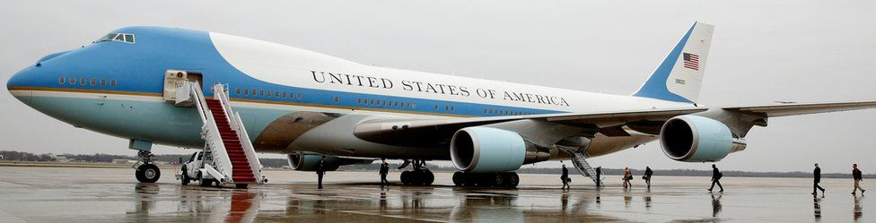 Air Force One at Joint Base Andrews in Maryland on 6 December 2016