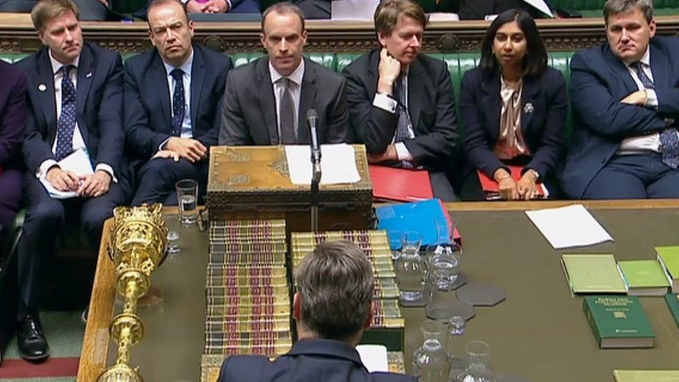 Dominic Raab in parliament on Tuesday