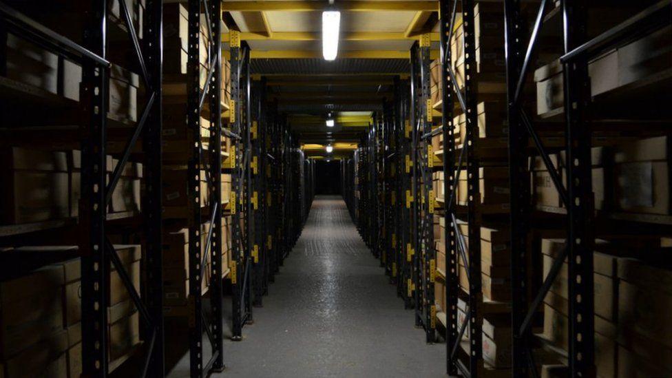 corridor down archive room