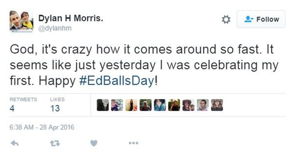 God It's crazy how it comes around so fast. It seems like just yesterday I was celebrating my first #EdBallsDay