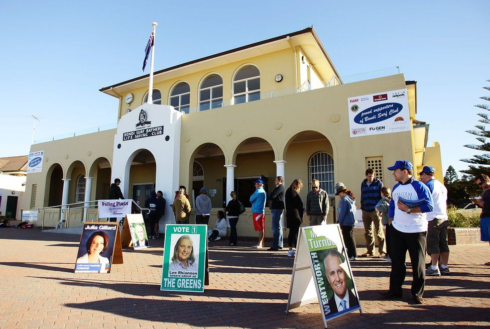 Australian polling station, Sydney, August 2010