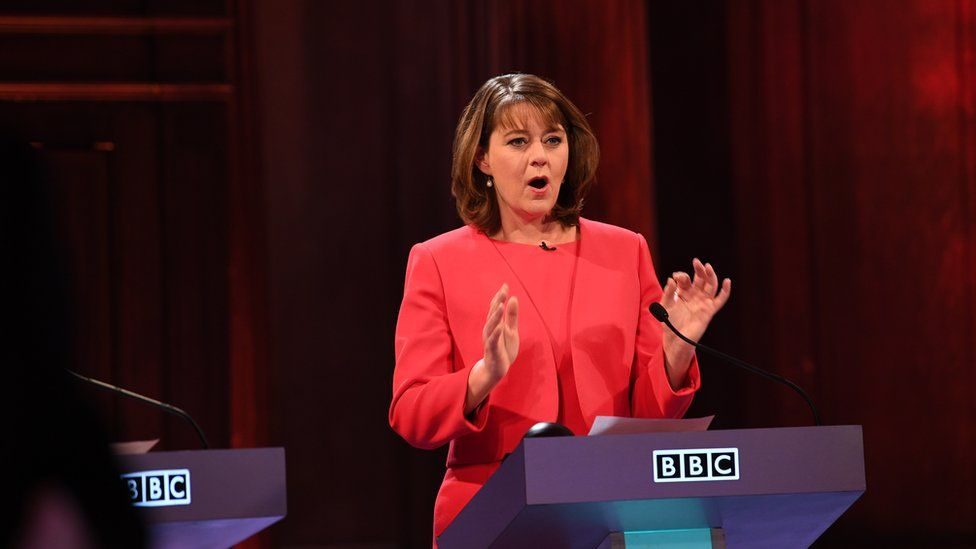 Leanne Wood leader of Plaid Cymru