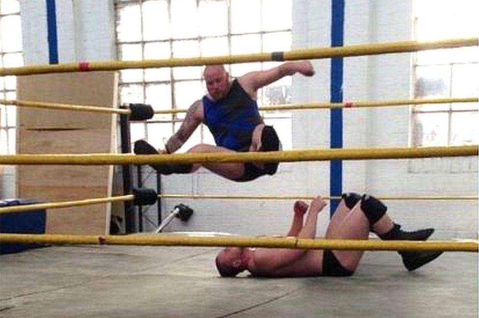Wrestler Jocky Saltire