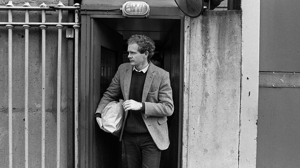 Martin McGuinness leaves Crumlin Road Jail