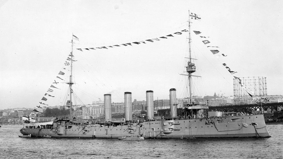 HMS Drake sank off Rathlin in 1917