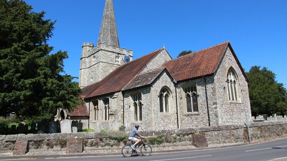 The church at Westbourne, West Sussex