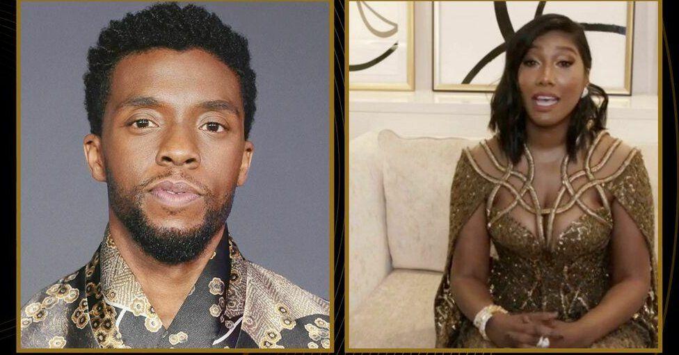 Chadwick Boseman and Taylor Simone Ledward