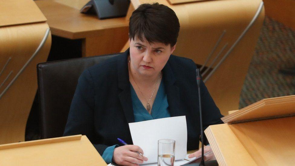 Ruth Davidson at Holyrood
