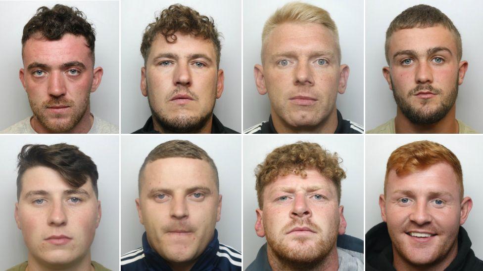 Clockwise from top left: Ashley Buss, Andrew Rowse, Darren Fisher, Jack Burgess, Ricky Flint, Nathan Conroy, Lewis Shenbanjo, Kayne Regan