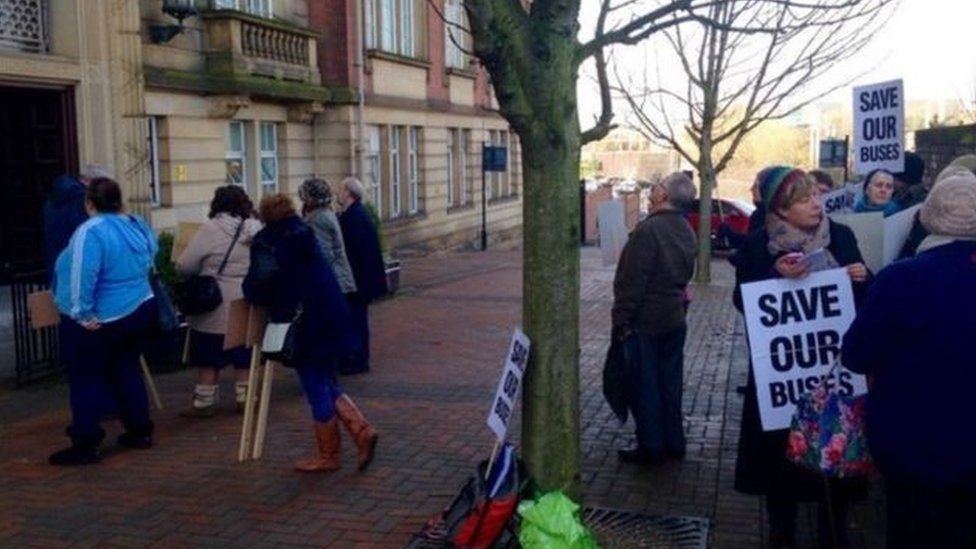Protests have spread because of council cuts