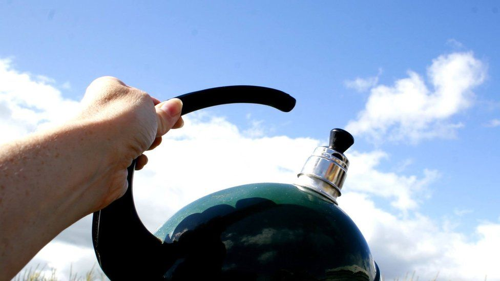 Kettle and clouds