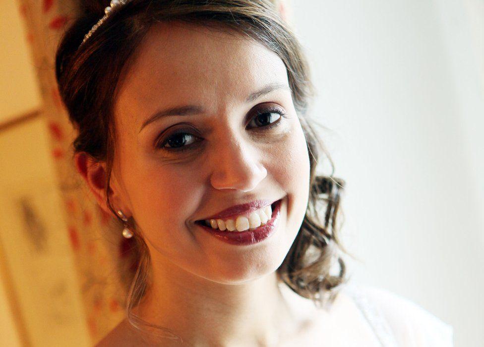 Katie Haines on her wedding day
