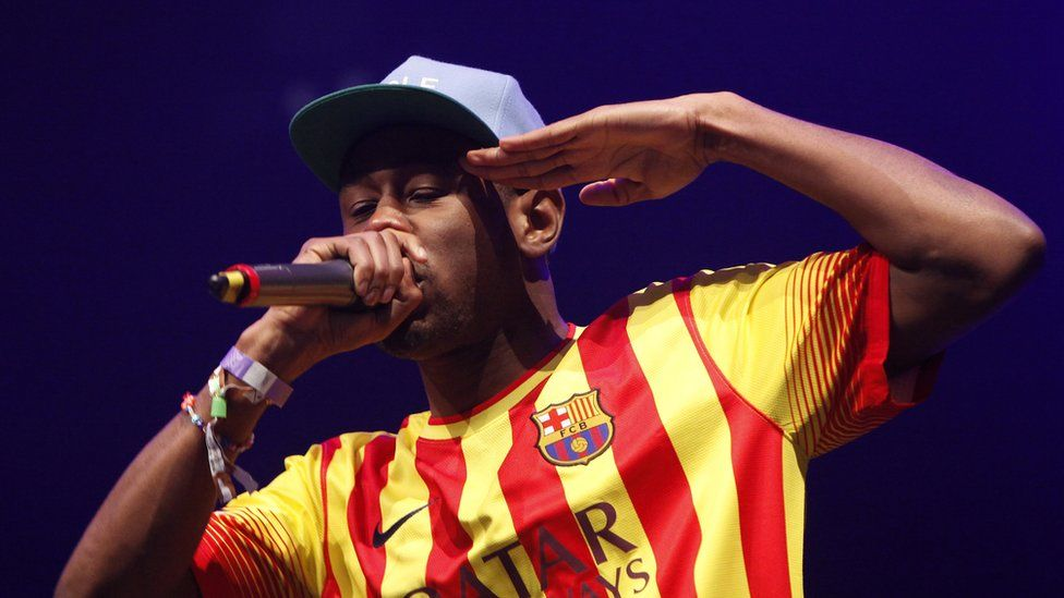 Tyler on stage
