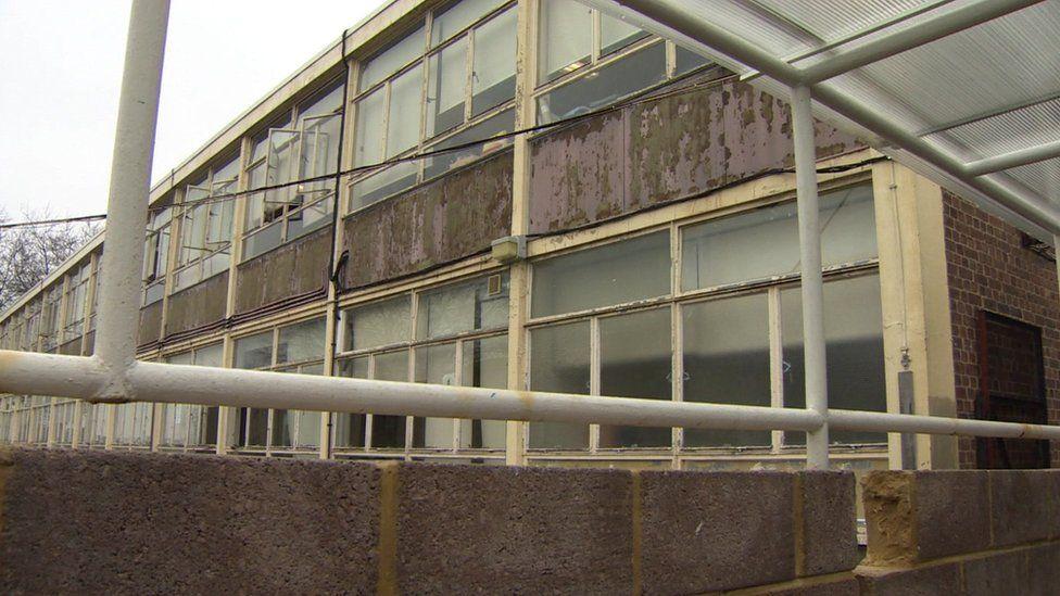 Dilapidated school building