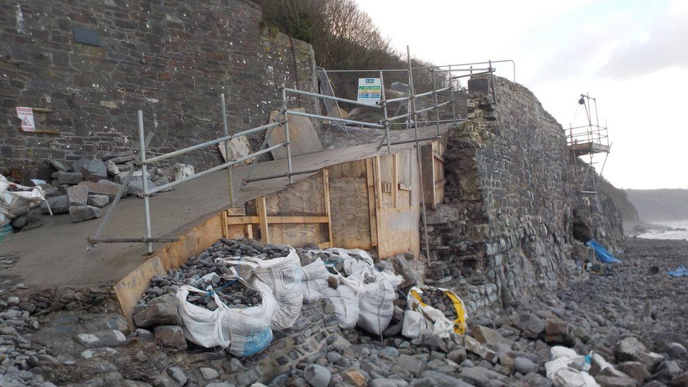 Damaged coast path