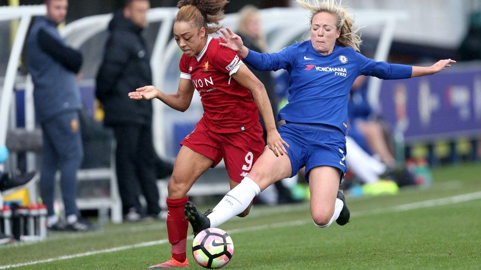 Chelsea v Liverpool in WSL football