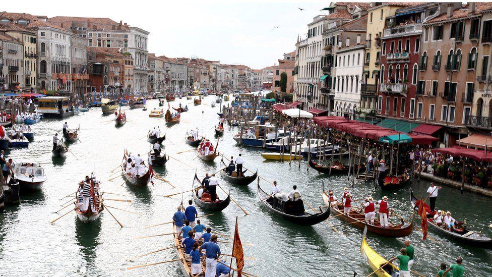 The annual regatta on Venice's Grand Canal