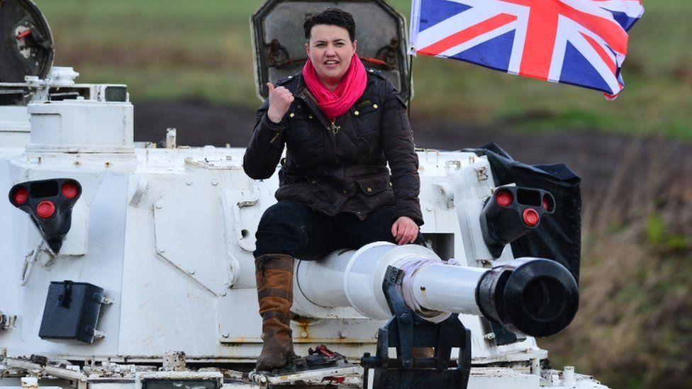 Ruth Davidson on tank